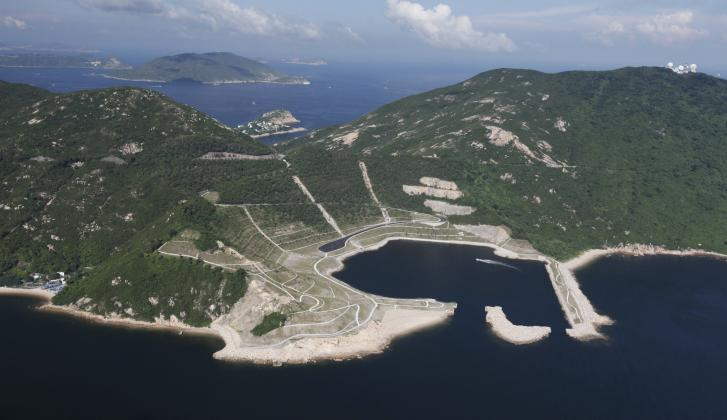 Shek O Quarry Rehabilitation Arial View.