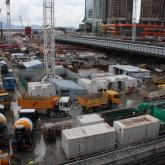 West Kowloon Express Rail. Concrete Delivery for West Kowloon Express Rail Terminal